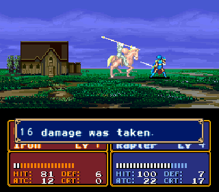 Screenshot Thumbnail / Media File 1 for Fire Emblem - Monshou no Nazo (Japan) [En by RPGuy96 v0.98] (~Fire Emblem - Mystery of the Emblem)